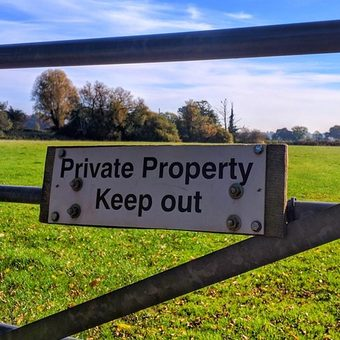 Property boundary gate
